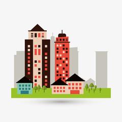 City design. Building icon. Isolated illustration, editable vector