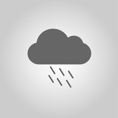 Cloud with rain, the icon for the weather pattern. Vector illustration.