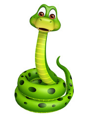 sitting Snake cartoon character