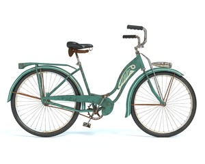 3d illustration of an old bicycle