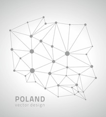 Poland vector outline map
