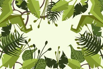 jungle. forest. decorative.
