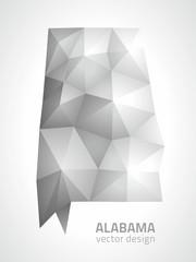 Alabama grey polygonal map