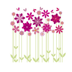 simple flower decoration vector illustration