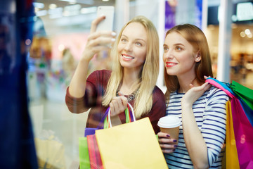 Selfie in shopping mall