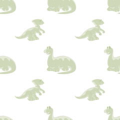 Dinosaurs on seamless background