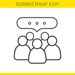Conference linear icon