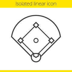 Baseball field linear icon