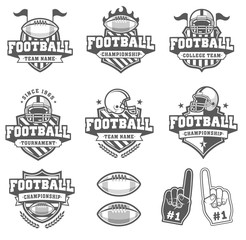 Vector Greyscale Football logo Collection