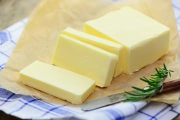 Milchprodukt Butter Papier