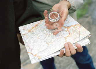 Map reading.