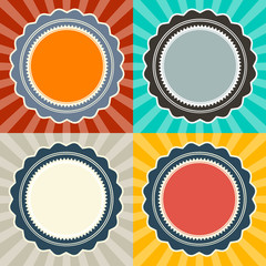 Abstract Vector Retro Backgrounds Set