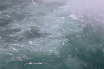 Photo of the fast water near the Niagara Falls