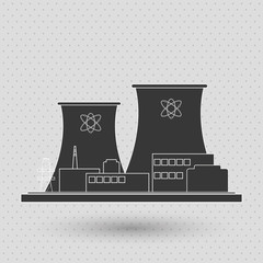 Industry design. Factory icon. Flat illustration