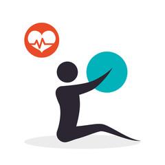 Healthy lifestyle  design. bodycare icon. Isolated illustration