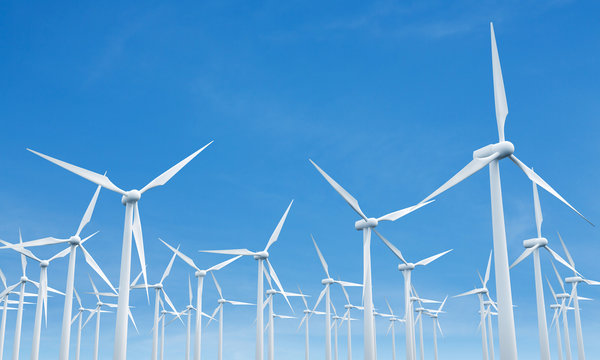 Numerous wind mills