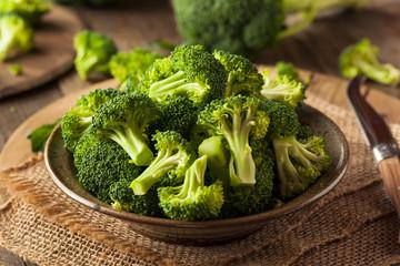 Healthy Green Organic  Raw Broccoli Florets