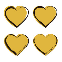 Golden Heart Icon Set