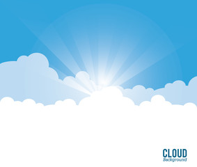 Cloud design. Wheater icon. Colorful illustration