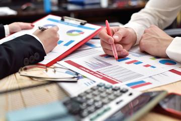 paperwork at meeting - fototapety na wymiar