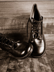 Vintage World War Two Era Boys Leather Boots