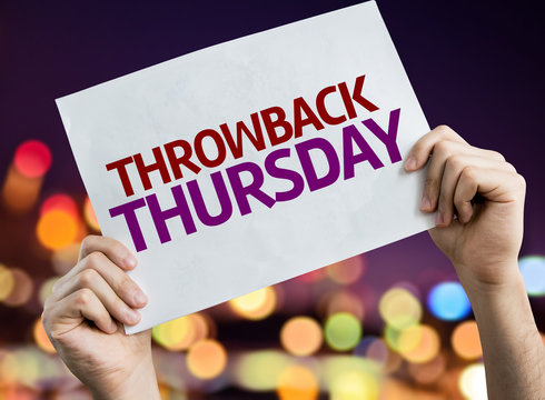 Throwback Thursday placard with bokeh background