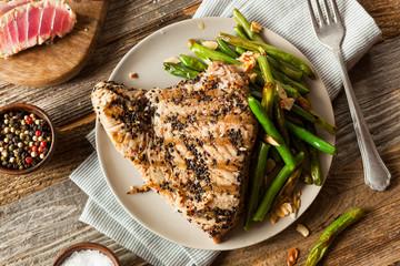 Wall Mural - Homemade Grilled Sesame Tuna Steak