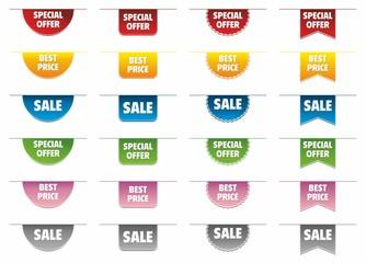 Obraz Promotion stickers tags seller shop - fototapety do salonu