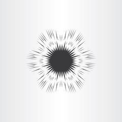 supernova star explosion icon vector