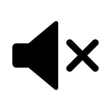 Audio speaker mute flat icon for apps and websites
