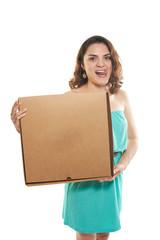 girl pizza box