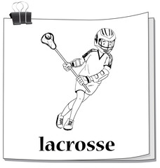 Doodle man playing lacrosse