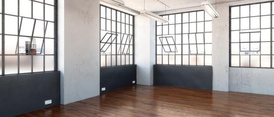 Postindustrielle Bürofläche (panoramisch)