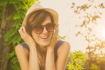 Girl enjoying outdoors.