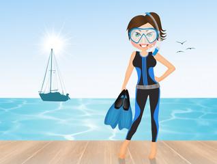girl go diving