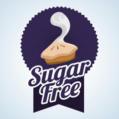 Sugar free design. candy concept. sweet icon, editable vector