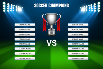 Soccer Champions template, Vector
