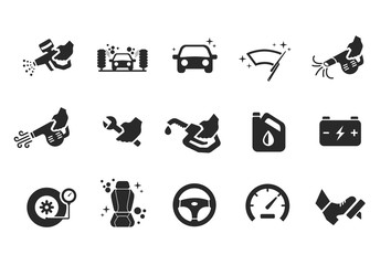 Car care icons - Illustration