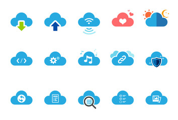 Cloud Service icons - Illustration Set 1