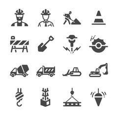 Construction icons set 1
