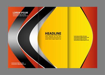 brochure design template frame for images