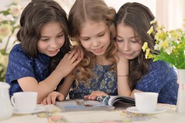 Three little cute girls