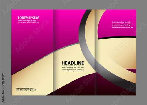 vector modern tri fold brochure design template stock image and