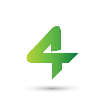 Number Four Logo