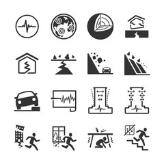 Earthquake and geology icons