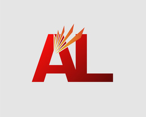 Letter a and L logo vector