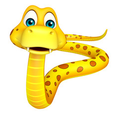 fun walk Snake cartoon character