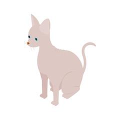 Sphinx cat icon, isometric 3d style