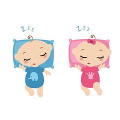 Sleeping little childrens.