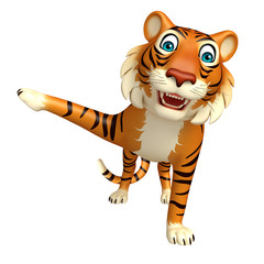 pointing Tiger cartoon character